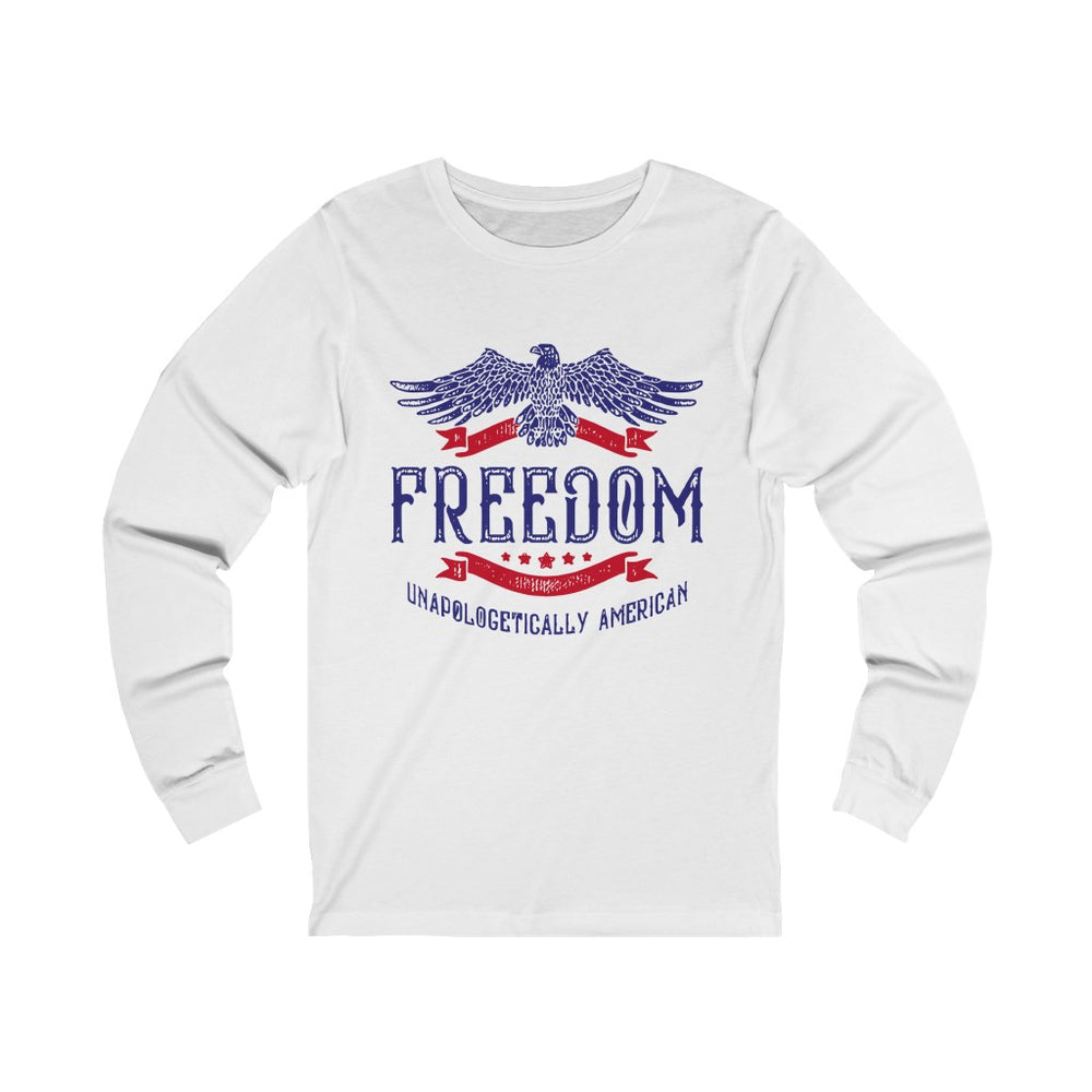 """Unapologetically American"" Men's Long Sleeve Tee"