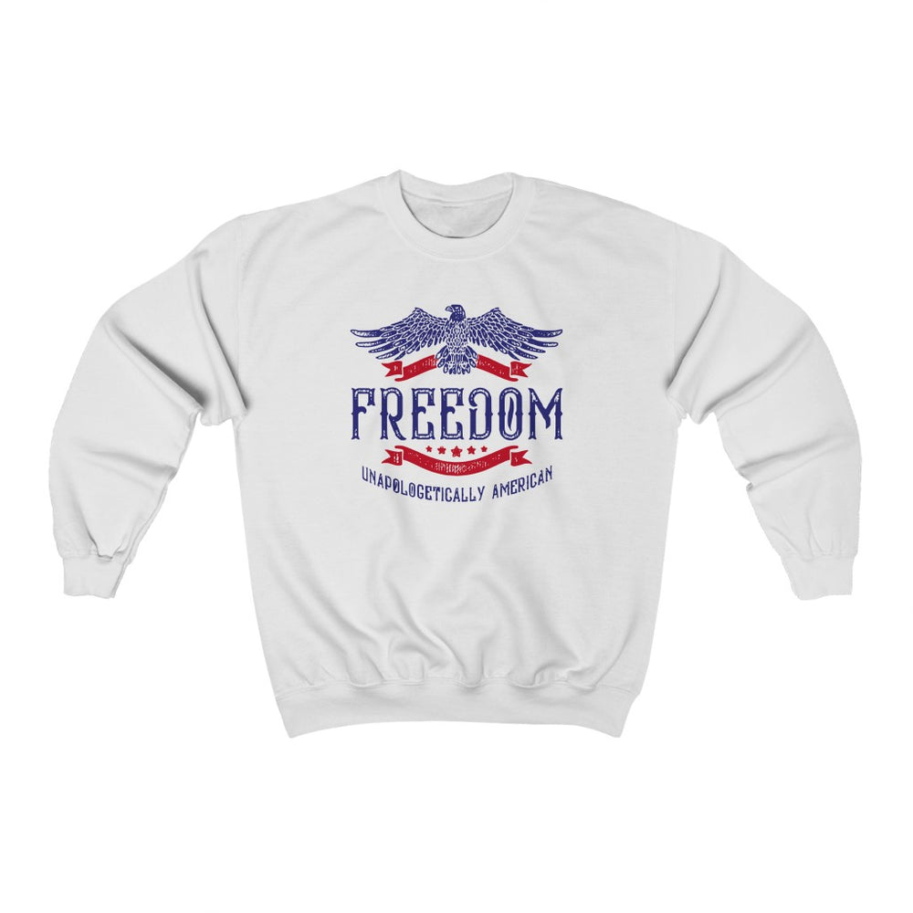 """Unapologetically American"" Women's Crewneck Sweatshirt"