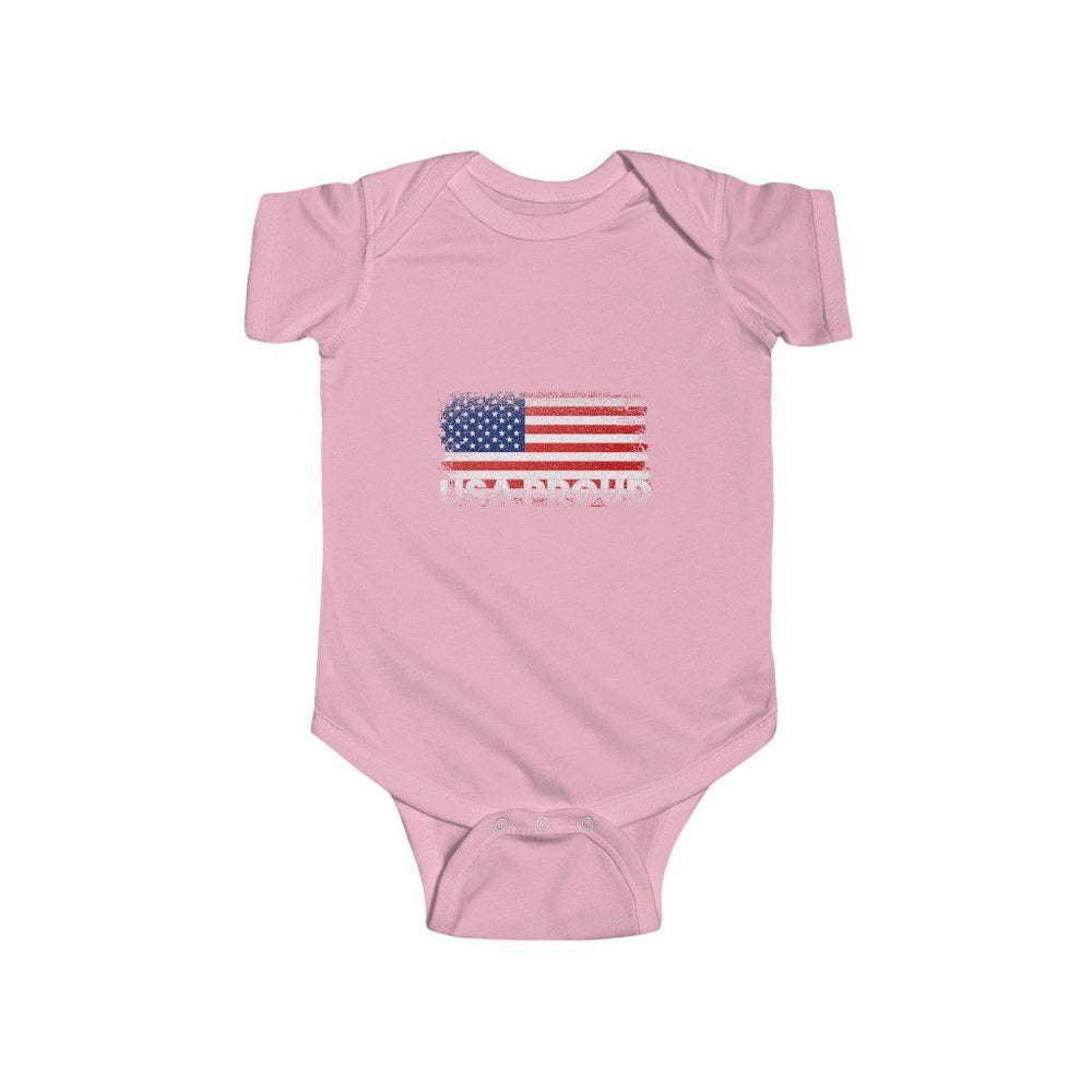 "Load image into Gallery viewer, ""USA Proud"" Infant Bodysuit"