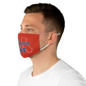 """My Governor is an Idiot - California"" Face Mask"