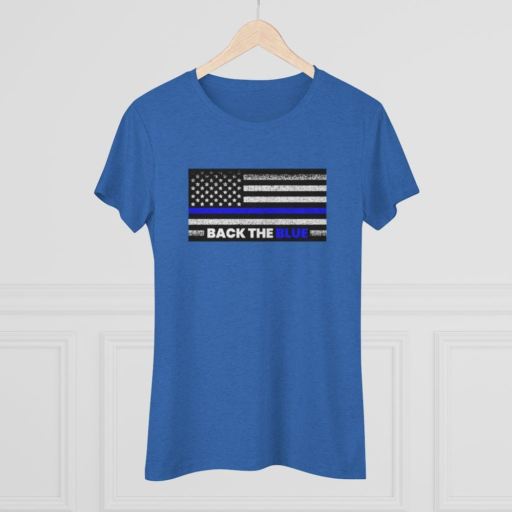"Load image into Gallery viewer, ""Back The Blue"" Women's T-Shirt"