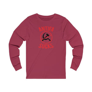 "Load image into Gallery viewer, ""Antifa Sucks"" Women's Long Sleeve Tee"