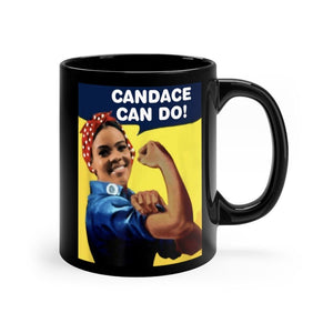 """Candace Can Do!"" Black Mug"
