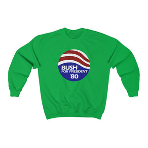 "Load image into Gallery viewer, ""Bush for President '80"" Women's Crewneck Sweatshirt"