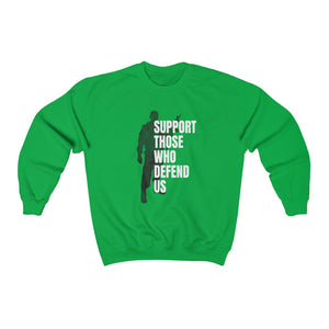 """Support Those Who Defend Us"" Women's Crewneck Sweatshirt"