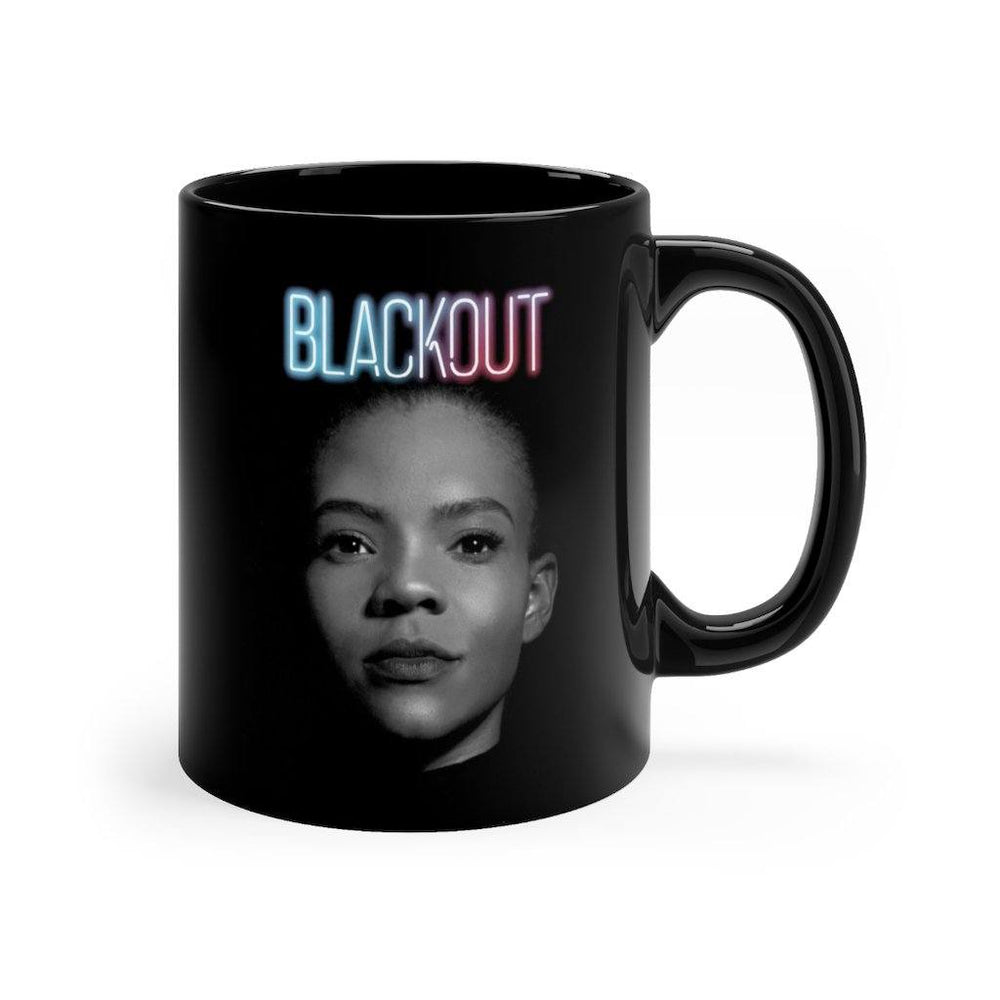 "Load image into Gallery viewer, ""BLACKOUT"" Black Mug"