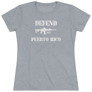 "Load image into Gallery viewer, ""Defend Puerto Rico"" Women's T-Shirt"