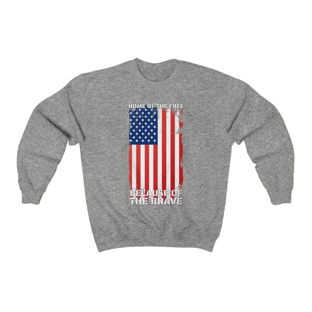 """Home of the Brave"" Men's Crewneck Sweatshirt"