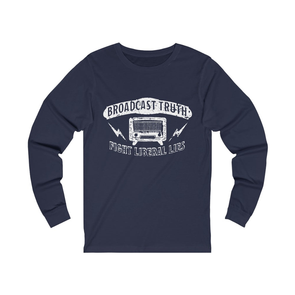 "Load image into Gallery viewer, ""Broadcast Truth"" Women's Long Sleeve Tee"
