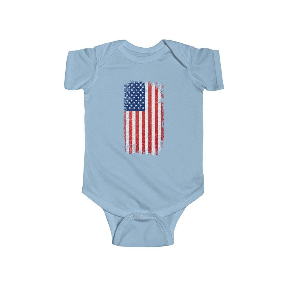 """Vintage American Flag"" Infant Onesie"