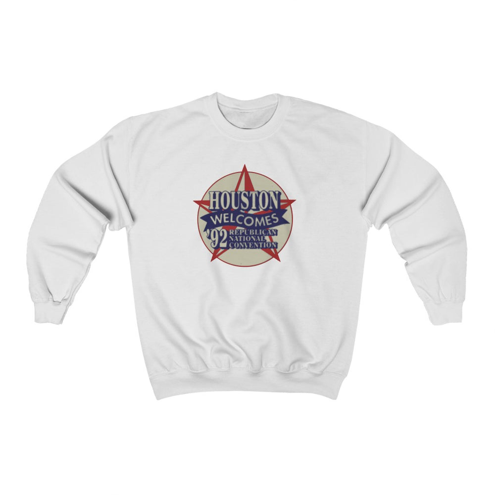 "Load image into Gallery viewer, ""Houston Welcomes RNC '92"" Men's Crewneck Sweatshirt"