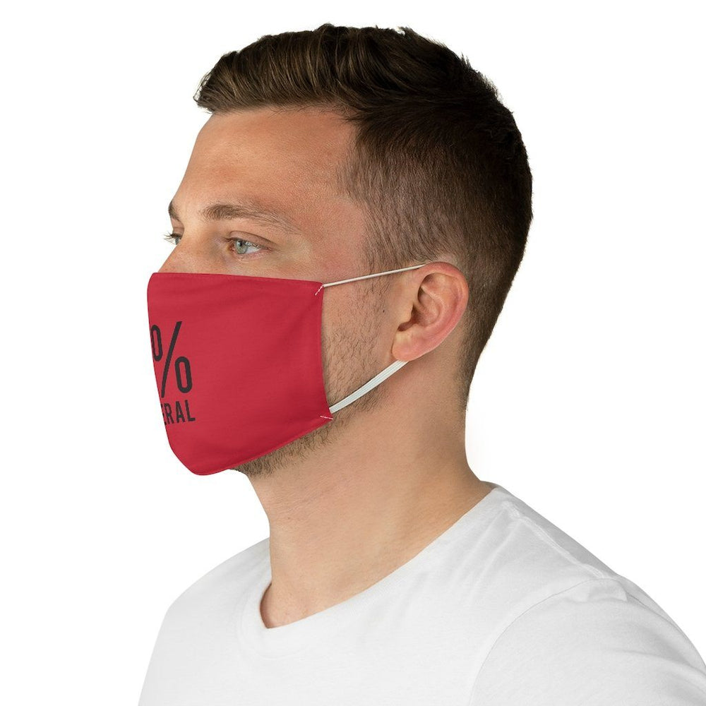 "Load image into Gallery viewer, ""0% Liberal"" Face Mask"