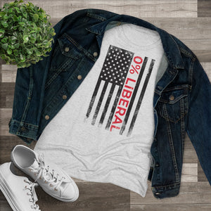 "Load image into Gallery viewer, ""0% Liberal American Flag"" Women's T-Shirt"