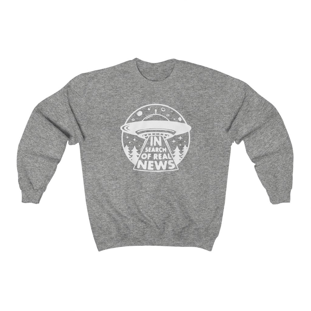 """In Search of Real News"" Women's Crewneck Sweatshirt"