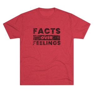 """Facts over Feelings"" Men's T-Shirt"