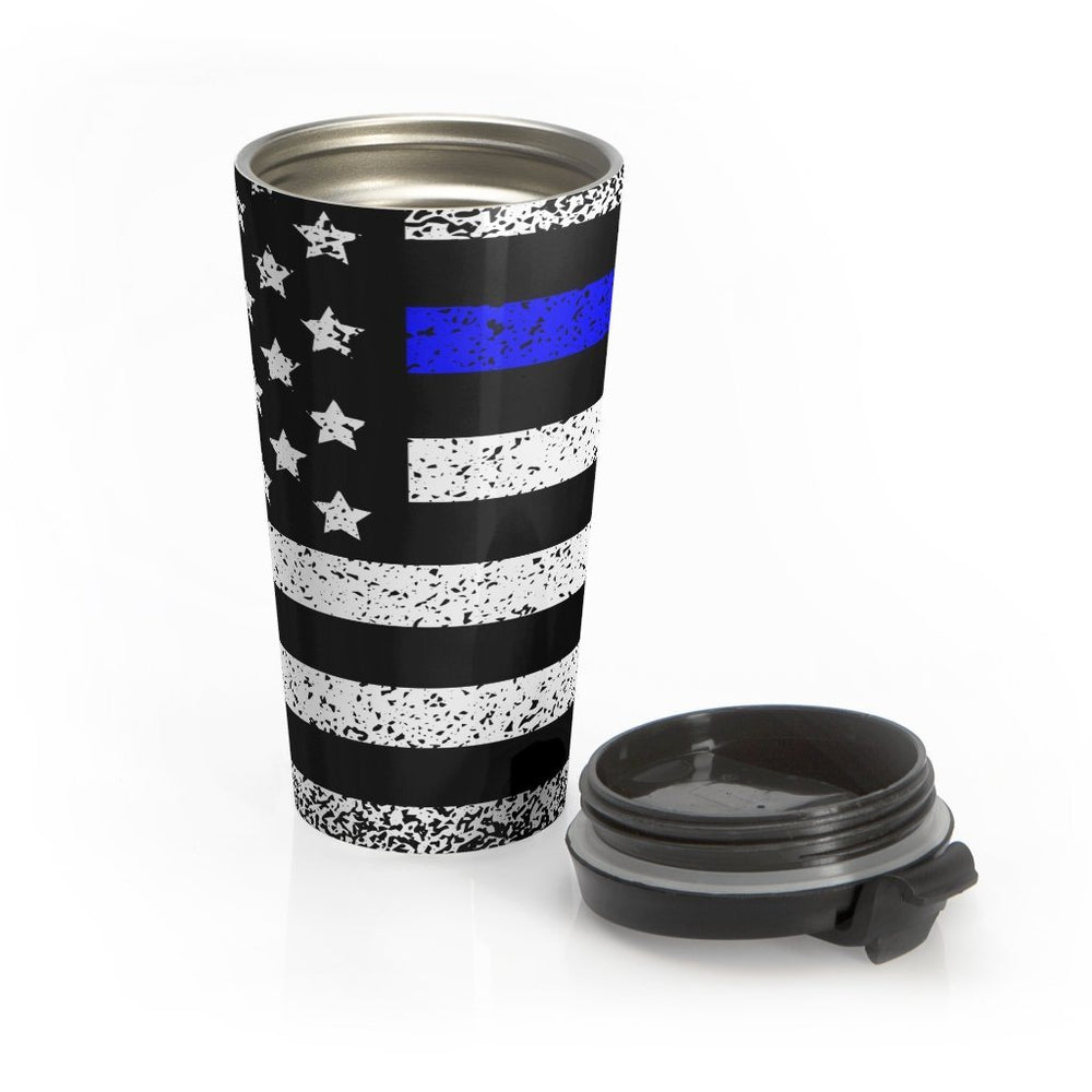 "Load image into Gallery viewer, ""Back The Blue"" Stainless Steel Mug"