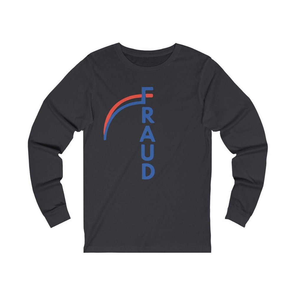 "Load image into Gallery viewer, ""FRAUD"" Women's Long Sleeve Tee"