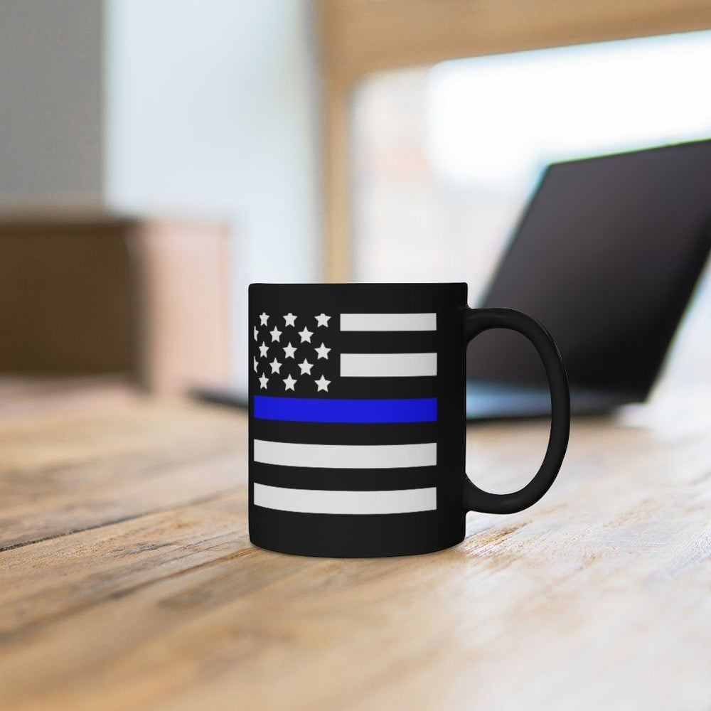 """Back The Blue"" Black Mug"