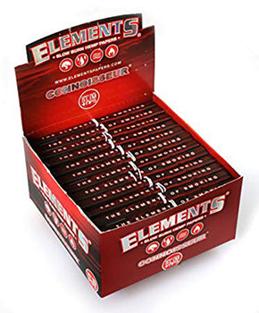 Elements Red Connoisseur - King Size Slim (with tips)