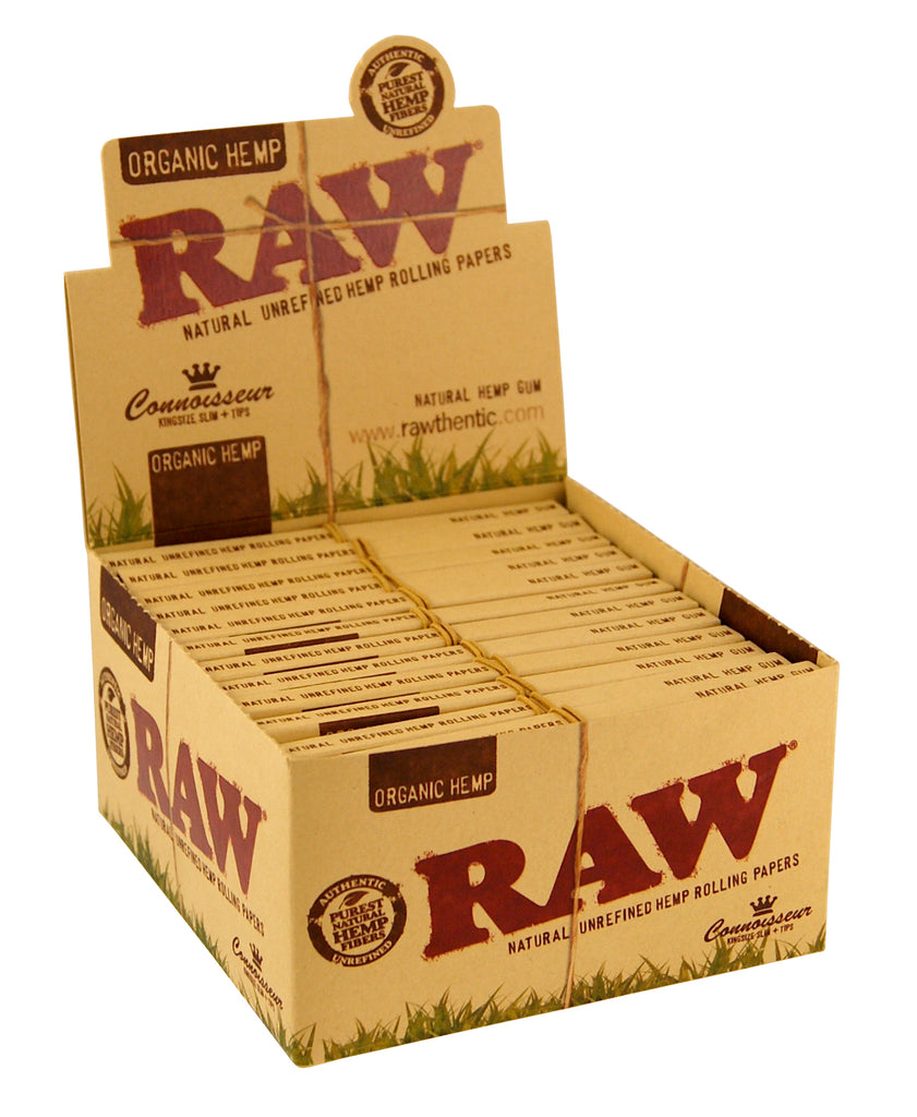 Raw Organic Connoisseur - King Size Slim (with tips)