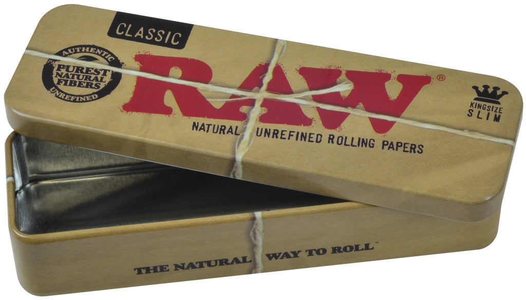 Raw Tin Cone Caddy for Pre-Rolled King Size