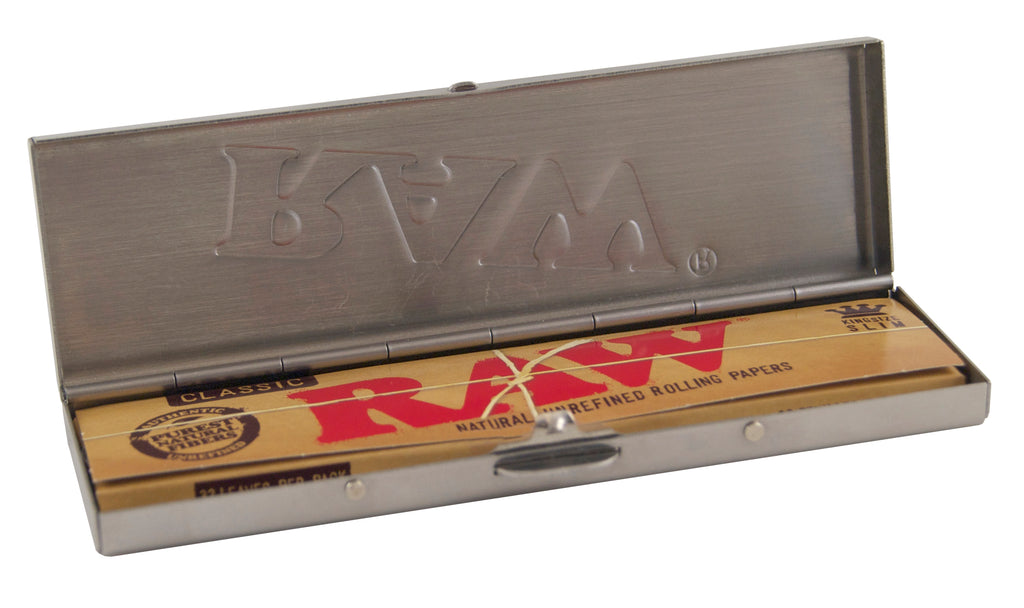Raw Steel Paper Tin for King Size Slim