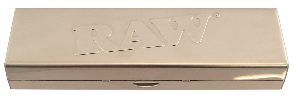 Raw Steel Paper Tin for King Size Slim and Pre-Rolled Tips