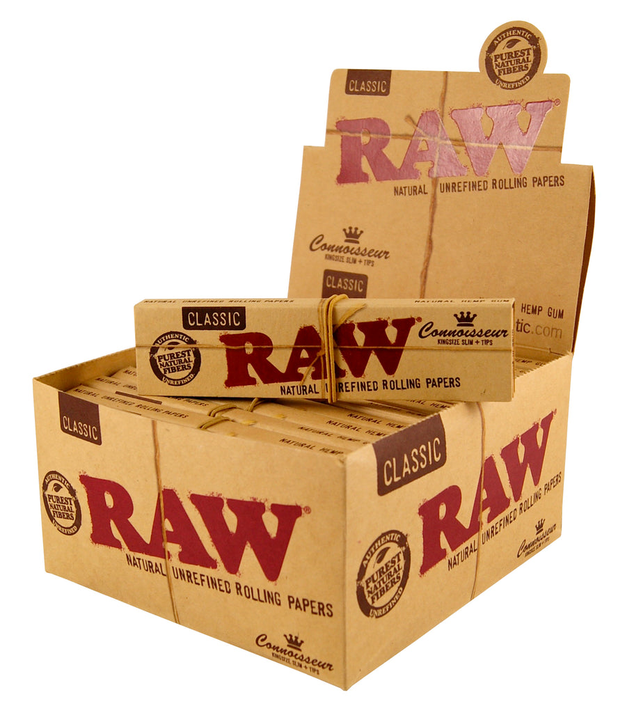 Raw Connoisseur - King Size Slim (with tips)