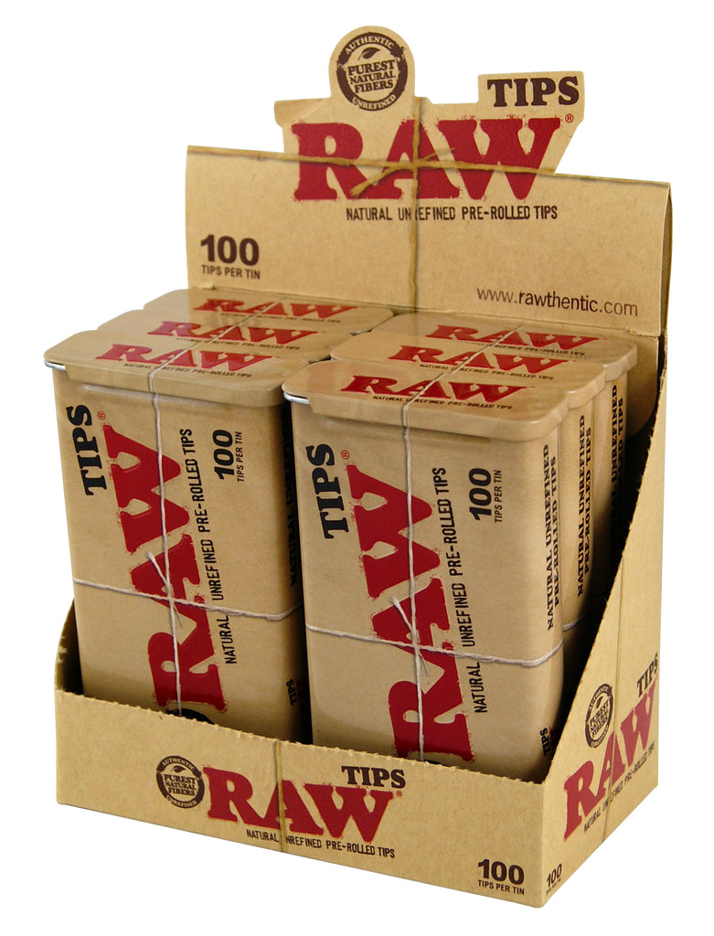 Raw Pre-Rolled Tips in Tin