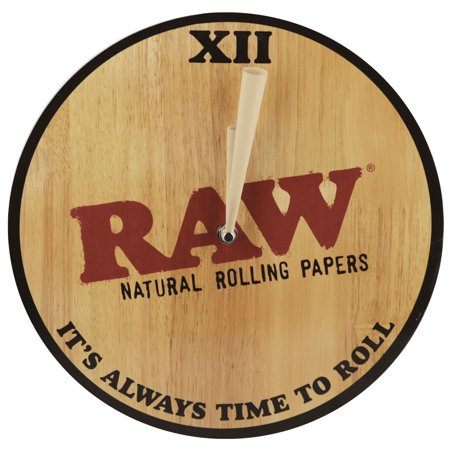 Raw Wooden Wall Clock