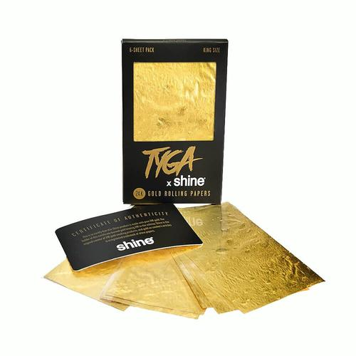 Shine - Tyga (24K Gold Paper) King Size
