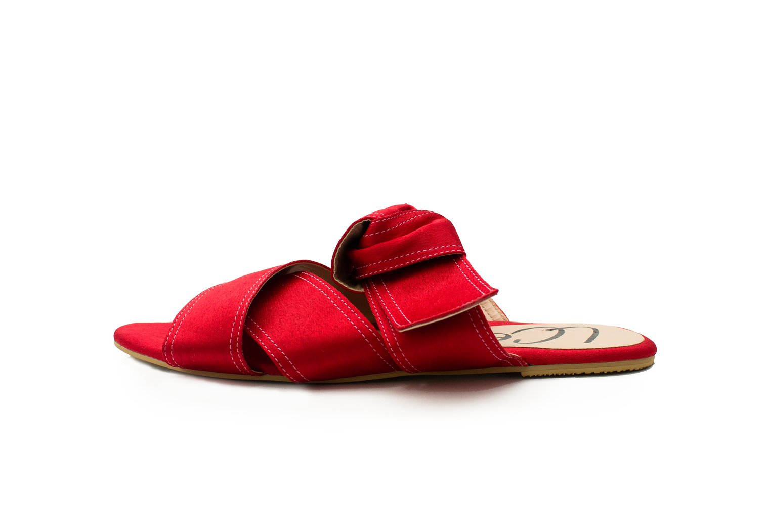 OLIVETTO RED FLAT SANDALS - LOOP NATURAL