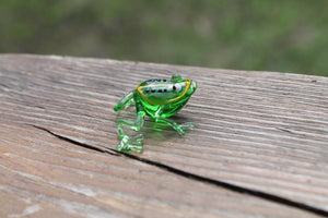 Blown Glass Frog Sculpture poison dart frog Figurine murano art collectible