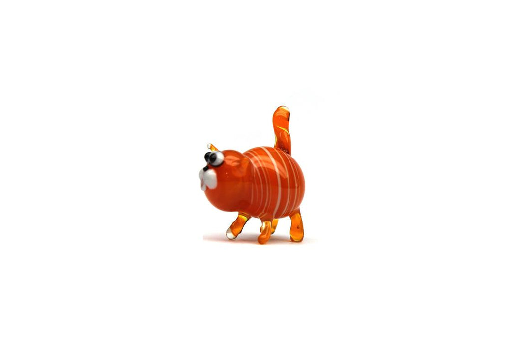 Blown Glass Cat Sculpture Animals Glass Cat