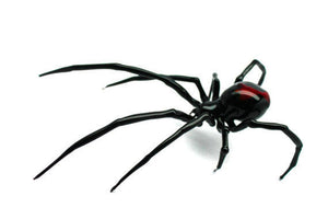 Art Glass black Widow Figurine, Blown Glass Spider,  hand blown glasses, BLACK WIDOW, Spider Charms