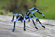 Load image into Gallery viewer, Hand Blown Glass Tarantula  Blown Glass Tarantula Spider Sculpture Tarantula Spider Halloween glass murano Blue Spider