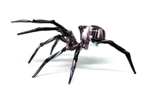 Art Glass Spider Figurine, Blown Glass Spider, Spider halloween, hand blown glasses, Glass Insect