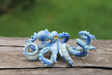 Load image into Gallery viewer, Blown Glass Octopus glass figurine Octopus Glass Ocean Octopus  Kraken Glass Octopus Figurine
