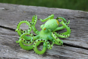 Blown Glass Octopus, Ocean, Octopus Sculpture