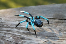 Load image into Gallery viewer, Art Glass Spider Figurine, Blown Glass Spider