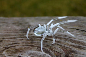 Spider Animals Glass, Art Glass, Blown Glass, blown glass figurine, stained glass, hand blown glass