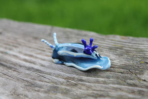 Sea Slug glass sculpture - slug figure - Sea Slug - Nudibranch