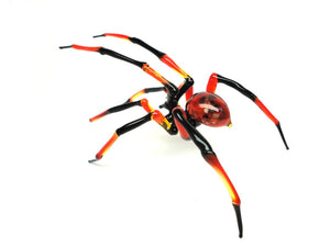 Art Glass Spider Figurine, Blown Glass Spider
