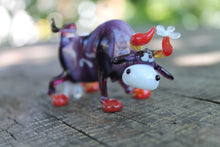 Load image into Gallery viewer, Blown Glass Cow Sculpture  Animals Glass