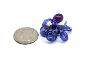 Blown Glass Octopus glass figurine mini