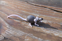 Load image into Gallery viewer, Glass Rat Figurine - Blown Glass Rat - Glass Animal Figurine - Glass Animals - Rat Glass Miniature