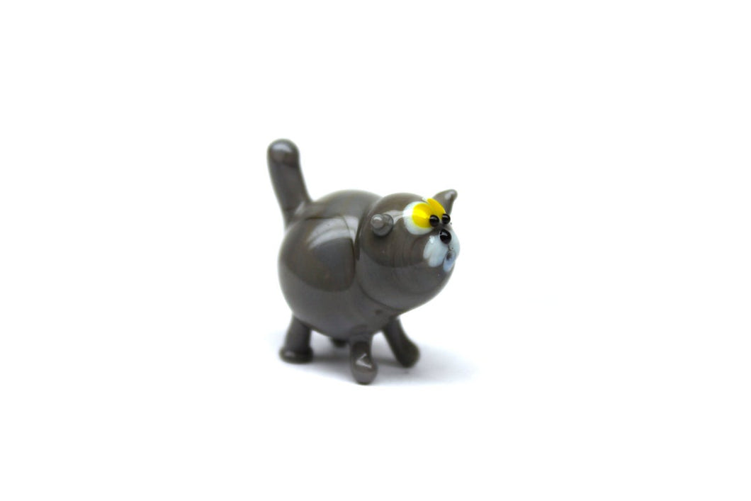 Blown Glass Cat Sculpture Animals Glass