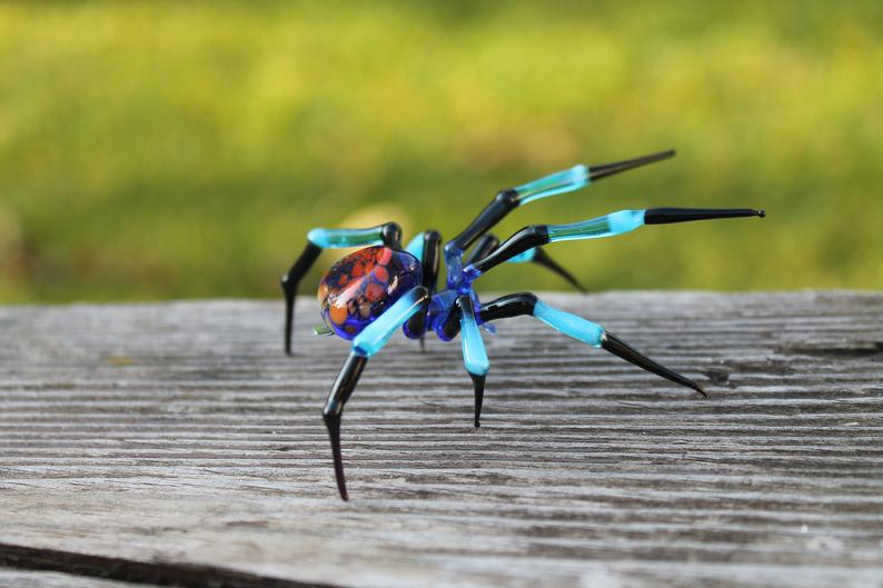 Blown Glass Spider sculpture