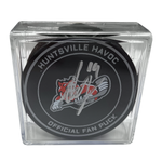 Autographed Sy Nutkevitch Puck with Display Case