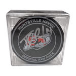 Autographed Tyler Piacentini Puck with Display Case